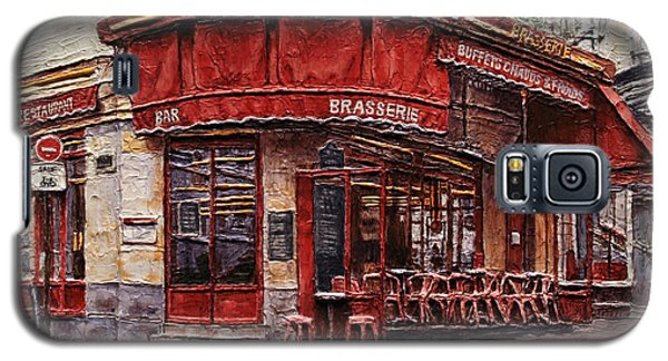 Cafe Des 2 Moulins- Paris Galaxy S5 Case by Joey Agbayani