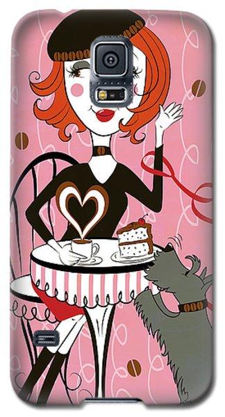 Cafe Girl Galaxy S5 Case
