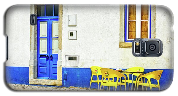 Galaxy S5 Case featuring the photograph Cafe In Portugal by Marion McCristall