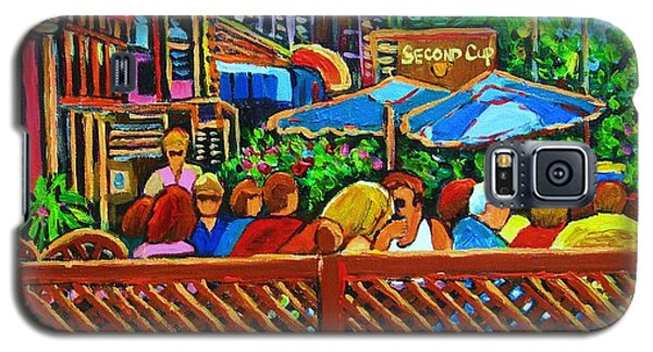 Galaxy S5 Case featuring the painting Cafe Second Cup by Carole Spandau