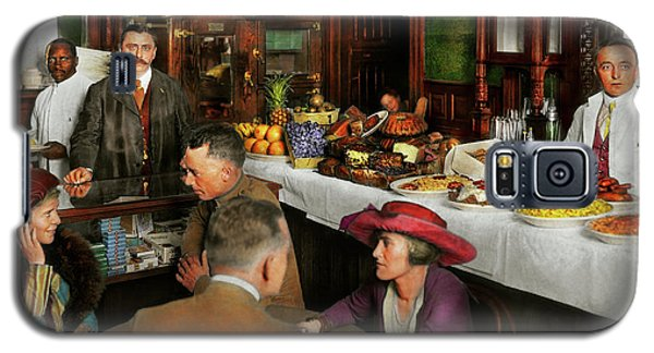 Galaxy S5 Case featuring the photograph Cafe - Temptations 1915 by Mike Savad