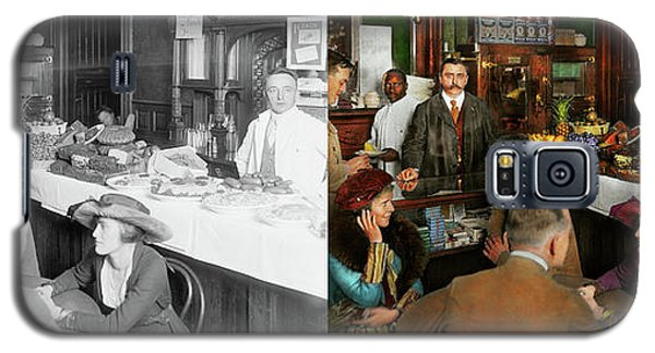 Galaxy S5 Case featuring the photograph Cafe - Temptations 1915 - Side By Side by Mike Savad
