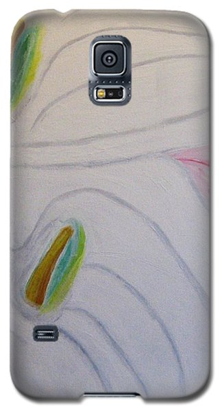 Galaxy S5 Case featuring the painting Cala Lillies by Barbara Yearty