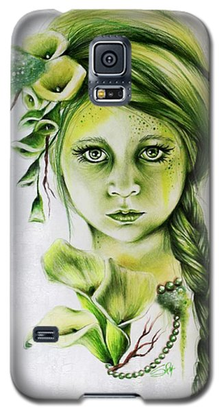 Galaxy S5 Case featuring the drawing Cala by Sheena Pike