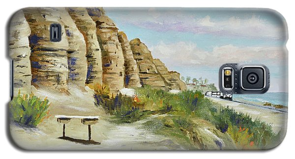 Galaxy S5 Case featuring the painting Calafia Beach Trail by Mary Scott