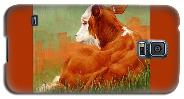 Calf Reclining Galaxy S5 Case by Margaret Stockdale