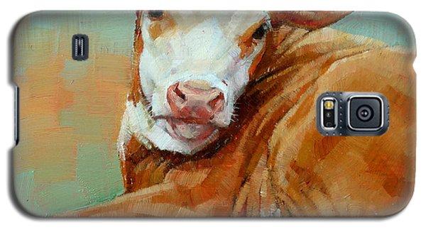 Calf Resting Galaxy S5 Case by Margaret Stockdale