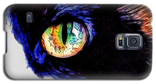 Galaxy S5 Case featuring the photograph Calico Cat by Kathy Kelly