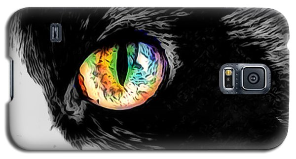 Calico Cat With A Splash Galaxy S5 Case by Kathy Kelly