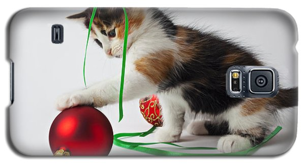 Calico Kitten And Christmas Ornaments Galaxy S5 Case