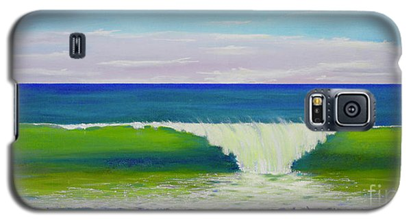 Galaxy S5 Case featuring the painting Califia Beach by Mary Scott