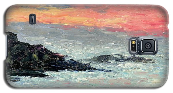 Galaxy S5 Case featuring the painting California Coast by Gail Kirtz