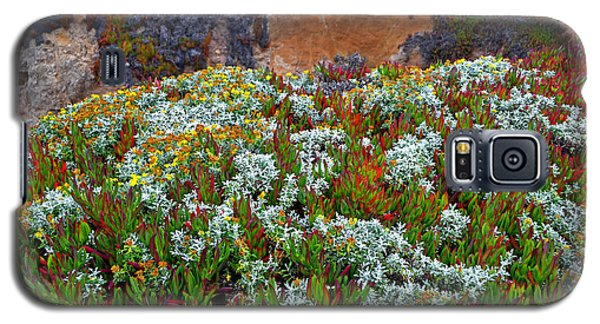 Galaxy S5 Case featuring the photograph California Coast Wildflowers by George Bostian