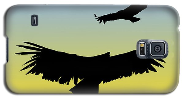 California Condors In Flight Silhouette At Sunrise Galaxy S5 Case