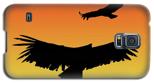 California Condors In Flight Silhouette At Sunset Galaxy S5 Case