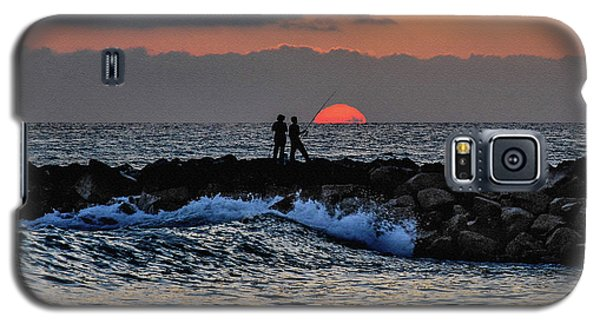 California Evening With Sandstone Effect Galaxy S5 Case