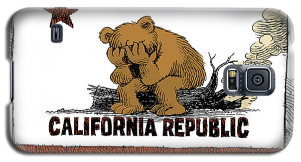California Fire Bear Grieves Galaxy S5 Case