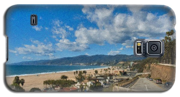 Galaxy S5 Case featuring the photograph California Incline Palisades Park Ca by David Zanzinger