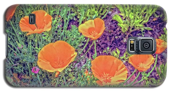 Galaxy S5 Case featuring the photograph California Poppys Too by William Havle