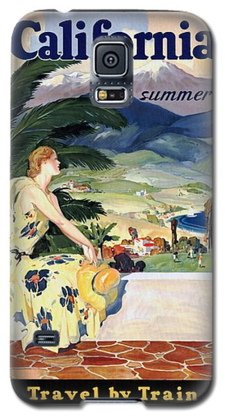 California This Summer - Travel By Train - Vintage Poster Restored Galaxy S5 Case