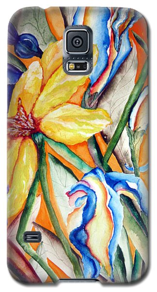 Galaxy S5 Case featuring the painting California Wildflowers Series I by Lil Taylor