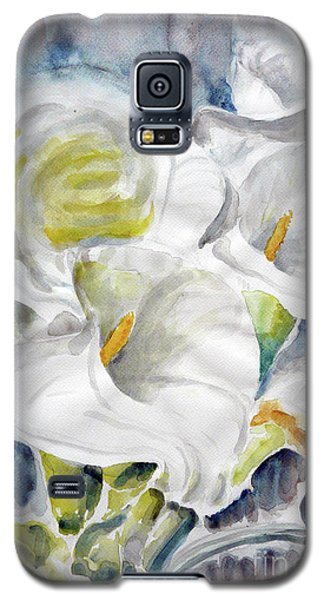Galaxy S5 Case featuring the painting Calla by Jasna Dragun