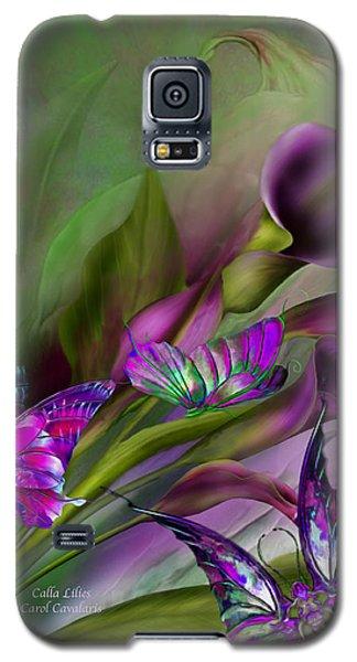 Calla Lilies Galaxy S5 Case by Carol Cavalaris