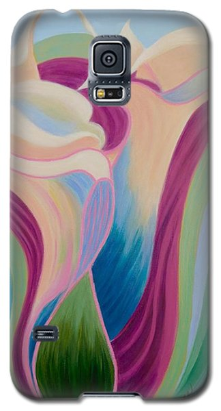 Galaxy S5 Case featuring the painting Calla Lilies by Irene Hurdle