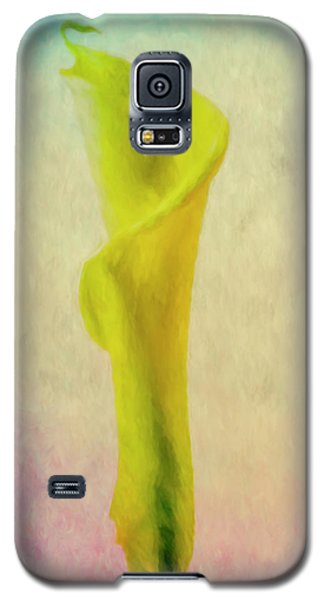 Galaxy S5 Case featuring the photograph Calla Lilly Echo Flower by David Haskett