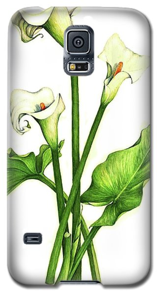 Galaxy S5 Case featuring the painting Calla Lilly by Heidi Kriel