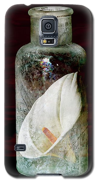 Galaxy S5 Case featuring the photograph Calla Lily In A Bottle by Phyllis Denton