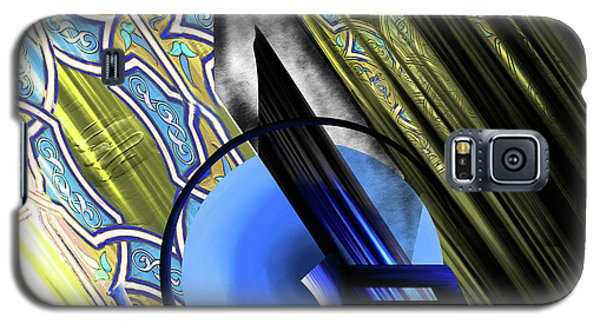 Galaxy S5 Case featuring the painting Calligraphy 103 4 by Mawra Tahreem