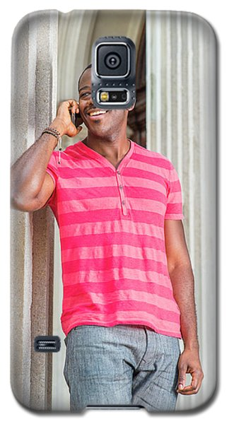 Man Calling Outside Galaxy S5 Case