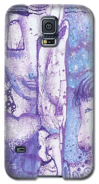 Galaxy S5 Case featuring the mixed media Calling Upon The Spirit Animals by Prerna Poojara