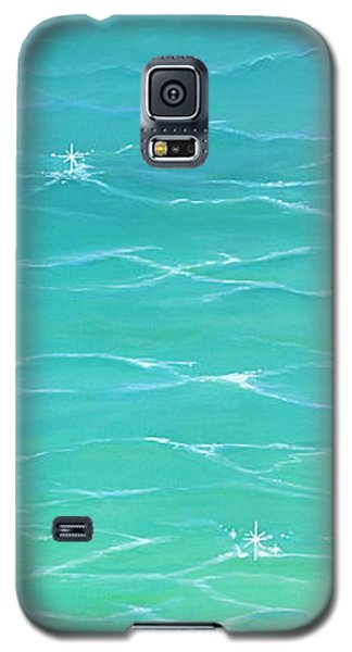Galaxy S5 Case featuring the painting Calm Reflections II by Mary Scott