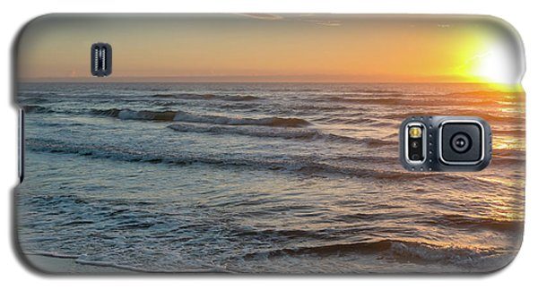 Calm Water Over Wet Sand During Sunrise Galaxy S5 Case