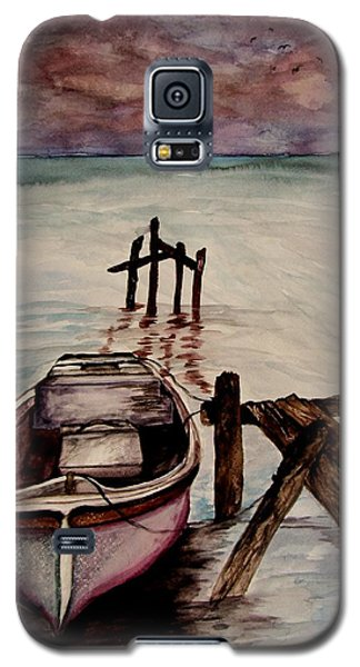 Galaxy S5 Case featuring the painting Calm Waters by Lil Taylor