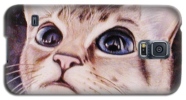 Galaxy S5 Case featuring the painting Calvin The Cat by Martha Ayotte