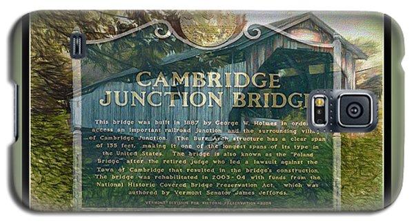 Cambridge Jct. Bridge History Galaxy S5 Case