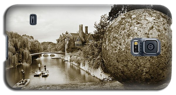 Cambridge Punting Sepia Galaxy S5 Case by Eden Baed