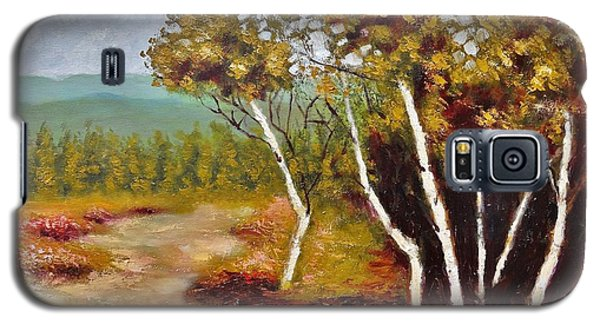 Galaxy S5 Case featuring the painting Camel Top Birches by Jason Williamson
