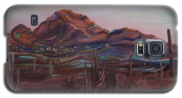 Galaxy S5 Case featuring the painting Camelback Mountain by Julie Todd-Cundiff