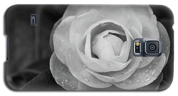 Camellia Black And White Galaxy S5 Case