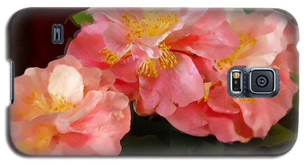 Camellias 1cmods1b Digital Painting Gulf Coast Florida Galaxy S5 Case