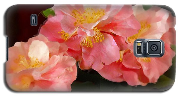 Camellias 1cmods1b Digital Painting Gulf Coast Florida Galaxy S5 Case