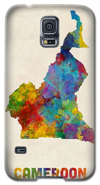 Galaxy S5 Case featuring the digital art Cameroon Watercolor Map by Michael Tompsett