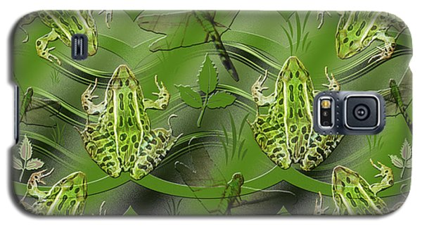 Galaxy S5 Case featuring the photograph Camo Frog Dragonfly by Rockin Docks Deluxephotos