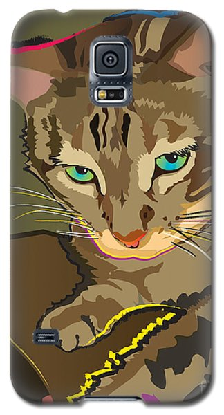 Camouflage Bengal Cat Galaxy S5 Case