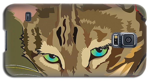 Camouflage Bengal Cat Square Galaxy S5 Case