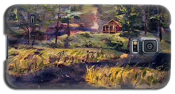 Camp At Efner Lake Brook Galaxy S5 Case by Denny Morreale